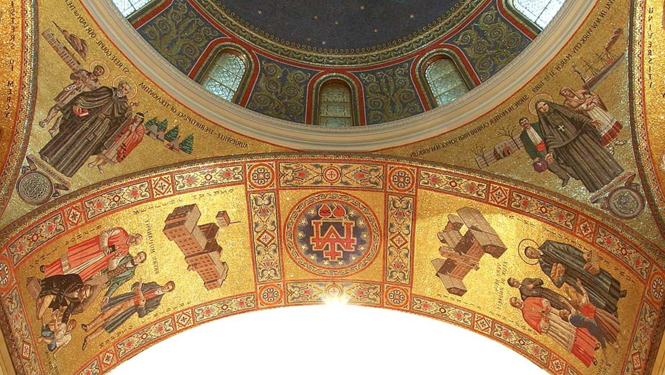 Hildreth Meiere Cathedral Basical Of Saint Louis Four Arch Soffits St Vincent De Paul And Followers